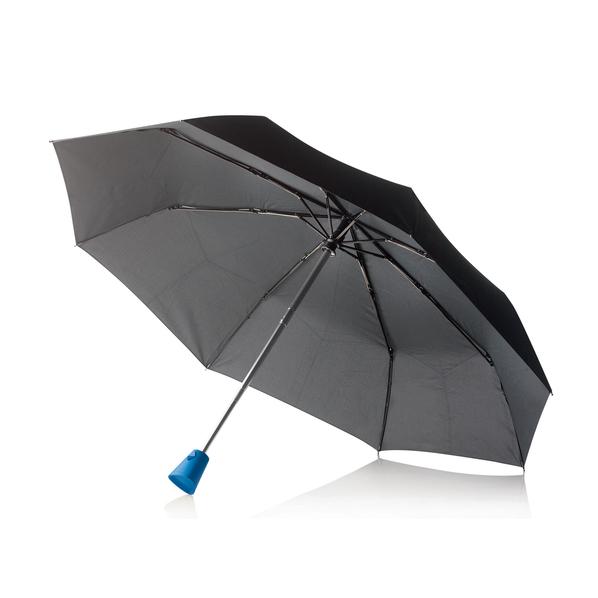 """Зонт складной автомат XD Design Brolly 21,5"""", черный / синий - фото № 1"""