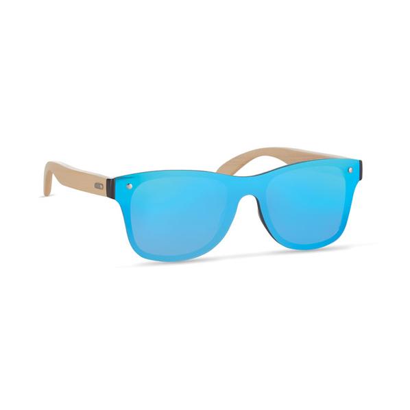 Солнцезащитные очки сплошные, голубые - фото № 1