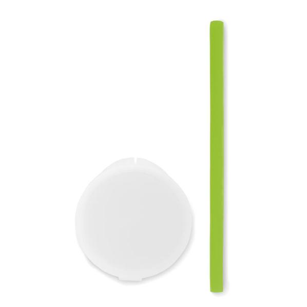 Соломинка силиконовая Flexy Straw, зеленая - фото № 1