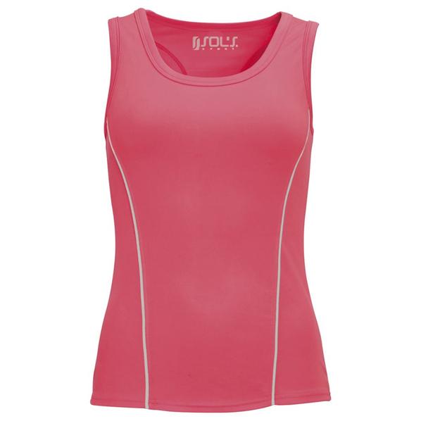 Топ женский спортивный Sol's Rio, неоновый розовый - фото № 1