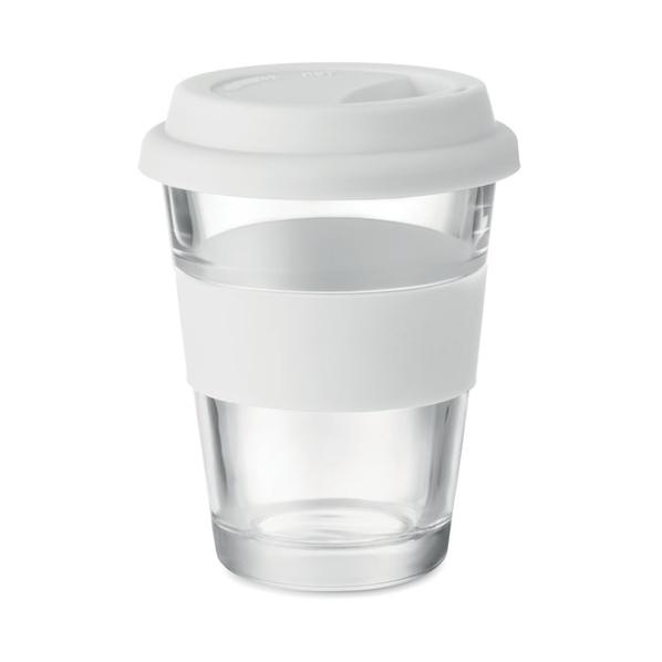 Стеклянный стакан, белый, 350 мл - фото № 1