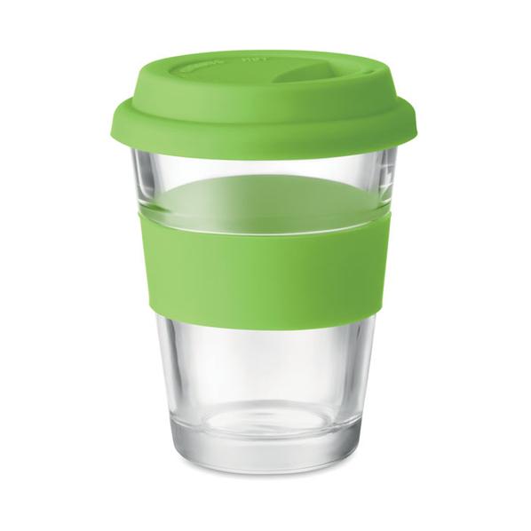 Стеклянный стакан, салатовый, 350 мл - фото № 1