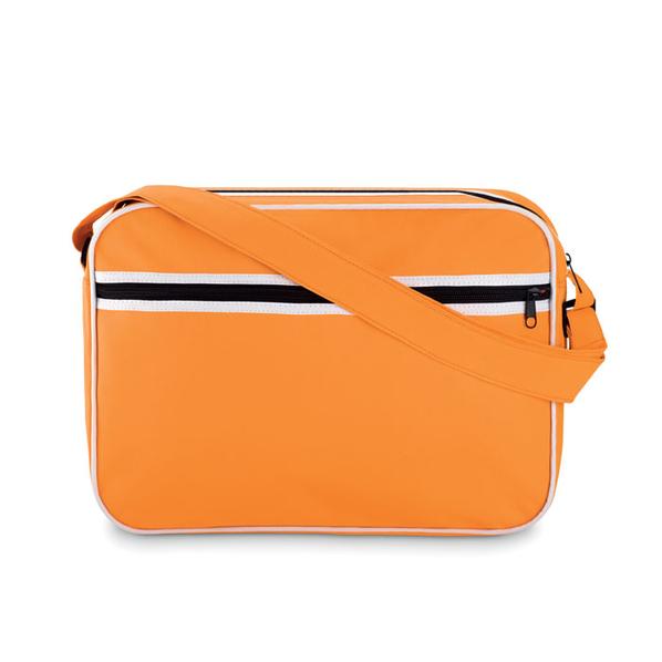 Сумка для документов, внешний карман на молнии, оранжевый - фото № 1