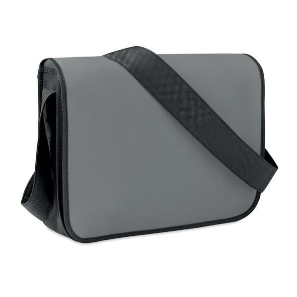 Сумка для ноутбука, нетканый материал, серый/черный - фото № 1