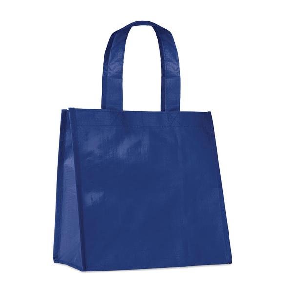 Сумка для покупок, с ламинацией, темно-синий - фото № 1