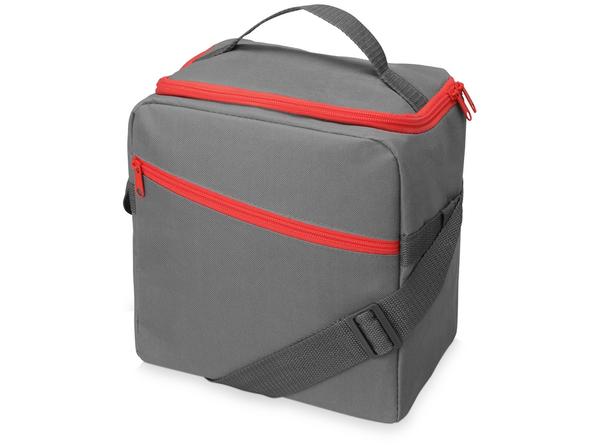 Изотермическая сумка-холодильник Classic, серый, красный - фото № 1