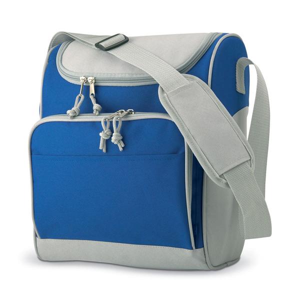 Сумка-холодильник, синий/серый - фото № 1