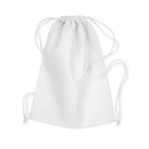 Сумка-мешок, нетканый материал, белый - фото № 1