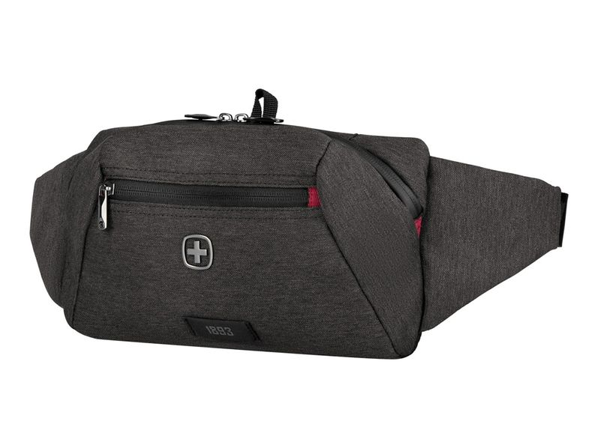 Сумка поясная Wenger MX Crossbody Bag, темно-серая - фото № 1