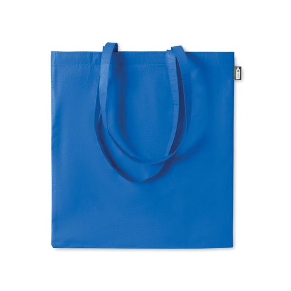 Сумка шопер с длинными ручками Tote, синяя - фото № 1