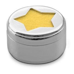 Свеча Звезда, серый - фото № 1