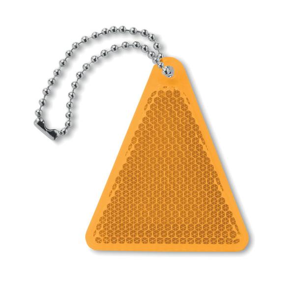 Светоотражатель треугольной формы, оранжевый - фото № 1