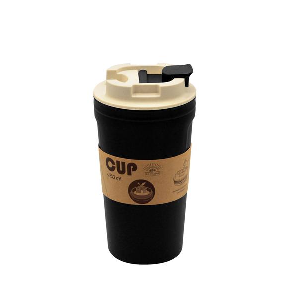 Термокружка из бамбукового волокна Eco Water, 420 мл, черная - фото № 1