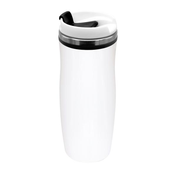 Термокружка Latte, 420 мл, белая / черная - фото № 1