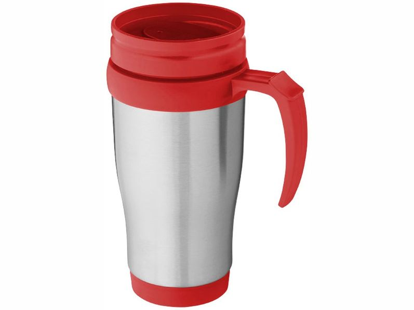 Термокружка Sanibel, серый, красный - фото № 1