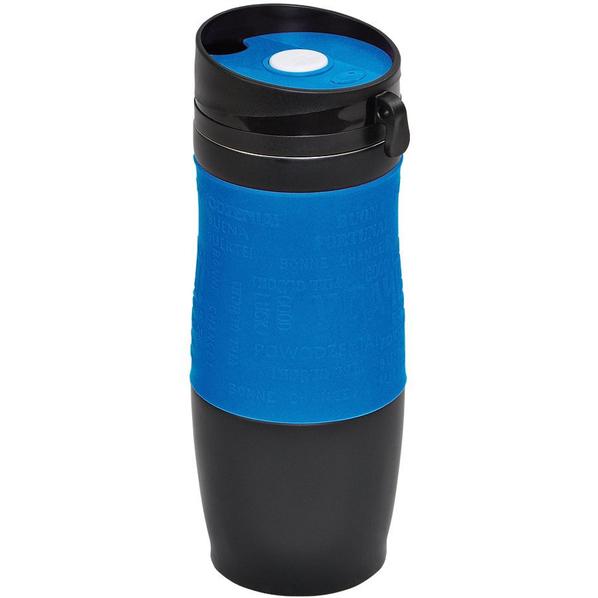 Термокружка вакуумная УДАЧА, черный, синий - фото № 1