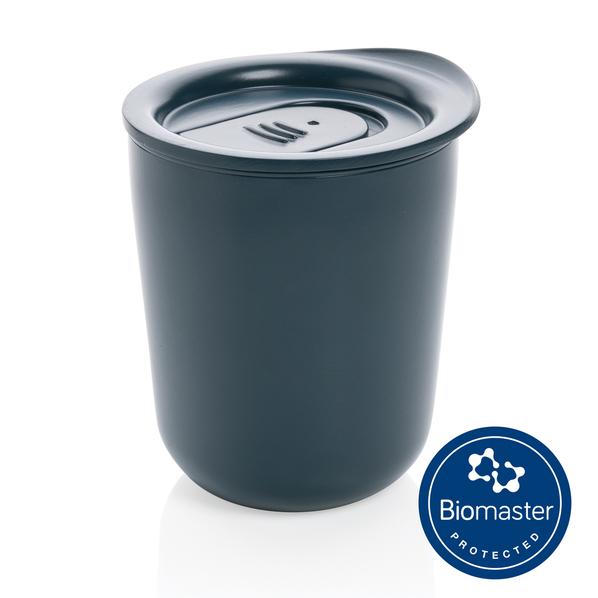 Термокружка XD Collection для кофе с защитой от микробов, темно-синяя - фото № 1