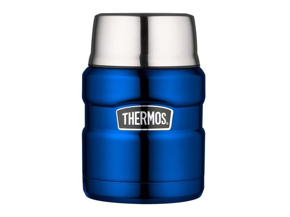 Термос для еды с ложкой Thermos SK3020, синий - фото № 1