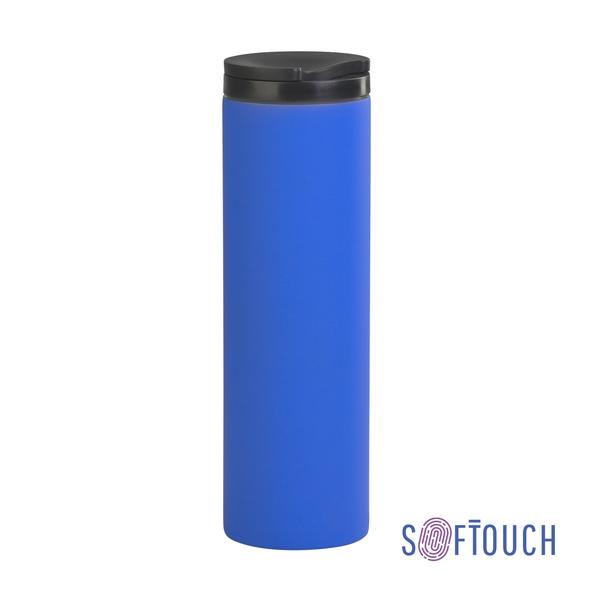 "Термостакан ""Брайтон"", синий, покрытие soft touch, 0,5 л - фото № 1"