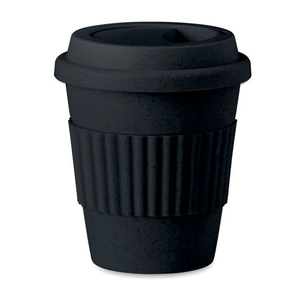 Термостакан из бамбука, чёрный - фото № 1