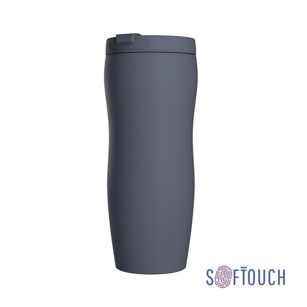Термостакан Монтана, покрытие soft touch, 0,4 л., серый - фото № 1