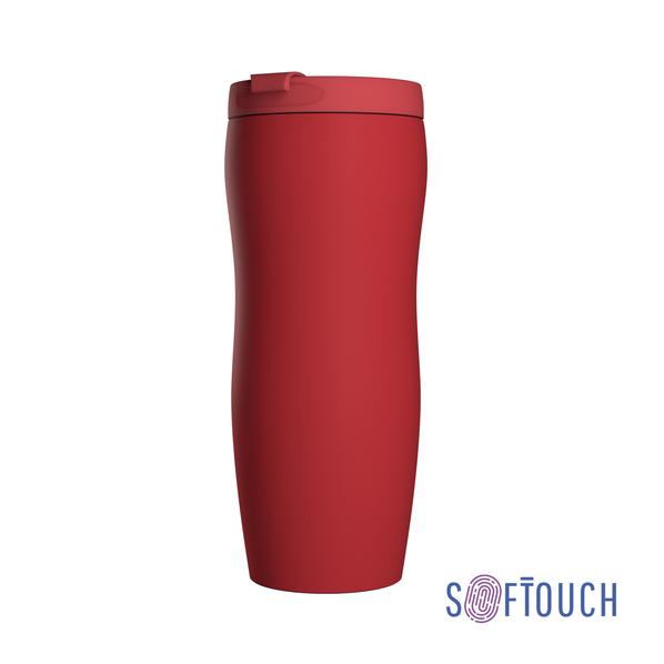 Термостакан Монтана, покрытие soft touch, 0,4 л., красный - фото № 1