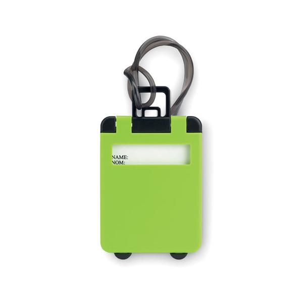 Бирка багажная TRAVELLER, зеленый - фото № 1