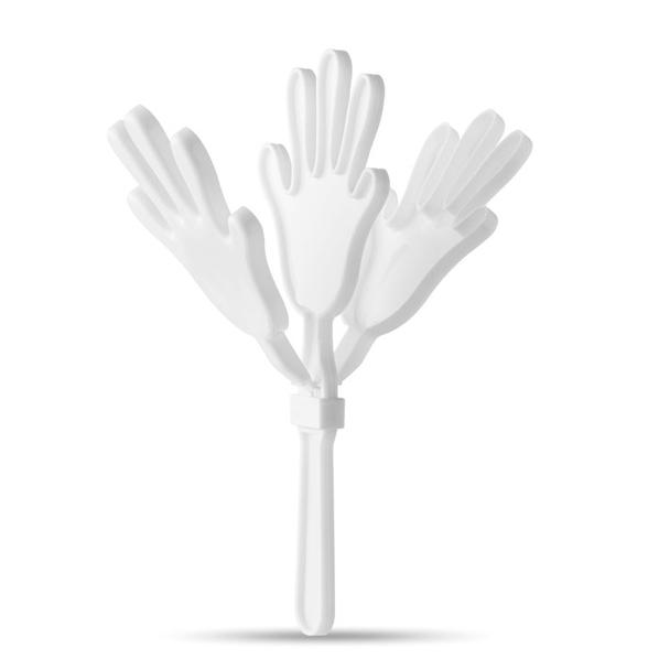 Трещотка в виде руки, белая - фото № 1