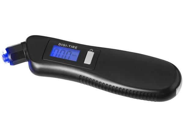 Цифровой манометр с фонариком 3 в 1, черный