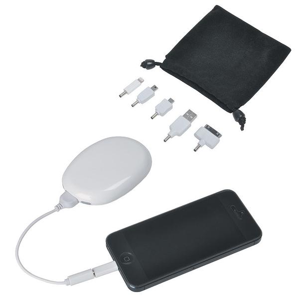 Зарядное устройство / подставка для смартфона Handy, 2000 mAh, белое - фото № 1