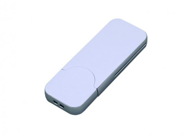 Флешка USB 2.0 на 4 Гб в стиле IPhone, белая - фото № 1
