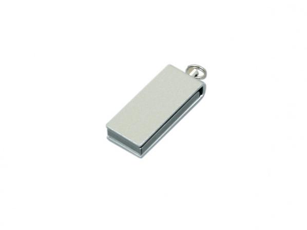 USB-флешка мини на 64 Гб с мини чипом в цветном корпусе, серый - фото № 1