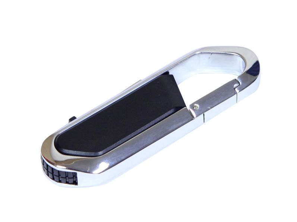 USB-флешка на 64 Гб в виде карабина, черный - фото № 1