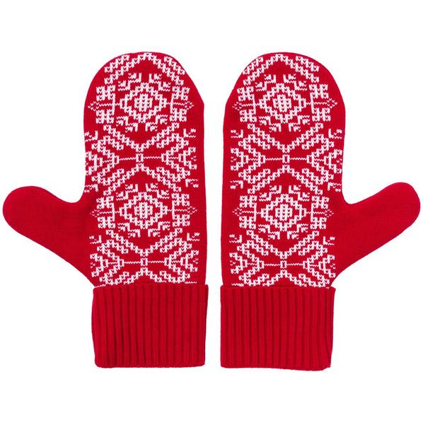 Варежки Teplo Onego, красные - фото № 1