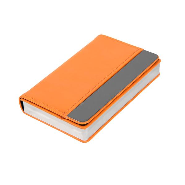 Визитница Горизонталь, оранжевый, оранжевый - фото № 1
