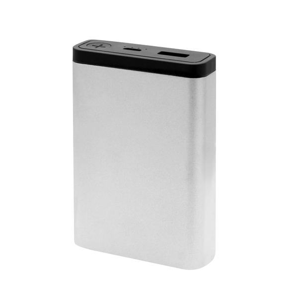 Внешний аккумулятор MeToo 10000 mAh, серебристый - фото № 1