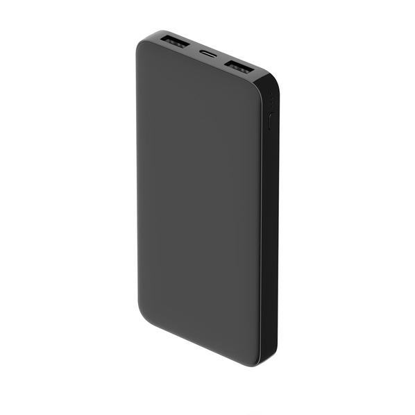 Внешний аккумулятор Polus 10000 mAh, soft touch, черный - фото № 1
