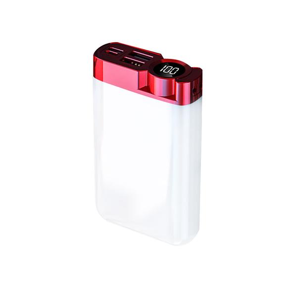 Внешний аккумулятор Strom 10000 mAh, белый / красный - фото № 1