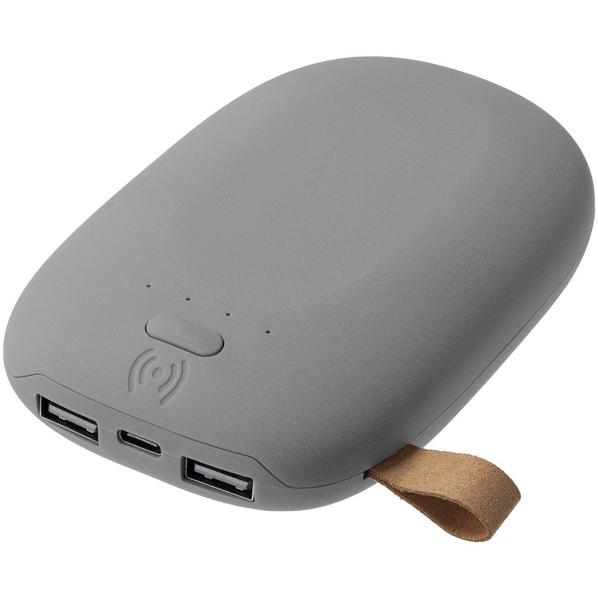 Внешний аккумулятор с беспроводной зарядкой Pebble Wireless, 9000 mAh, серый - фото № 1