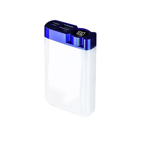 Внешний аккумулятор Strom 10000 mAh, белый / синий - фото № 1