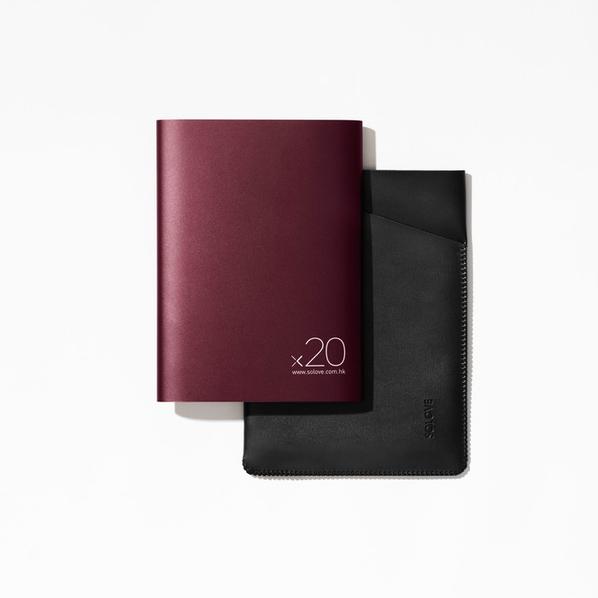 Внешний аккумулятор Xiaomi Solove Power Bank A8 2, 2000 mAh, бордовый - фото № 1