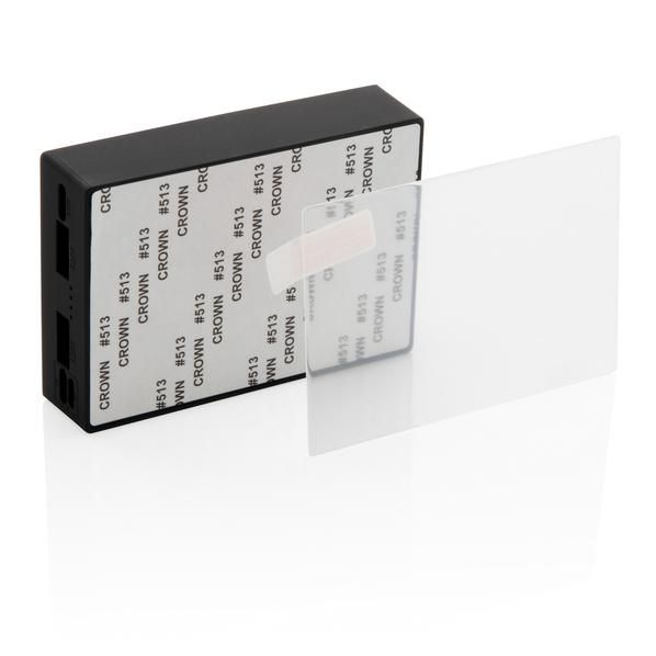 Внешний аккумулятор из закаленного стекла для беспроводной зарядки XD Collection, 5000 мАч, чёрный - фото № 1
