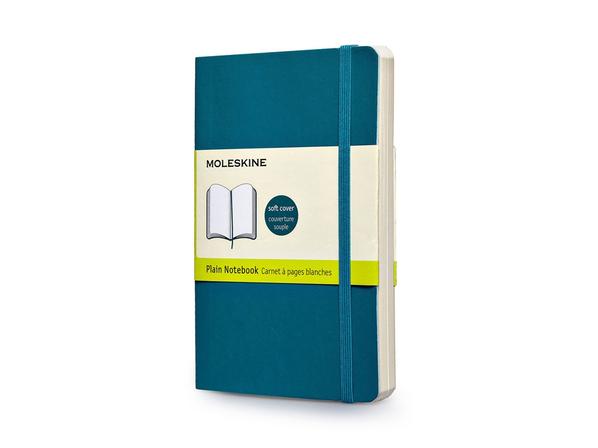 Записная книжка А6 Classic Soft (нелинованный), бирюзовый - фото № 1