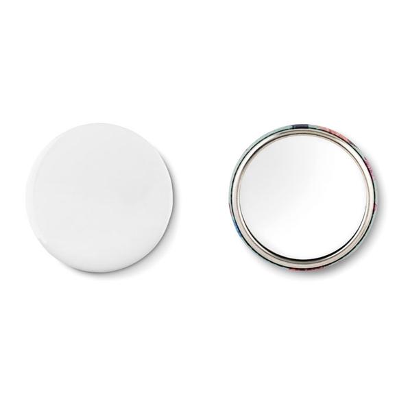 Зеркальце круглое с бумажной вставкой, серый - фото № 1