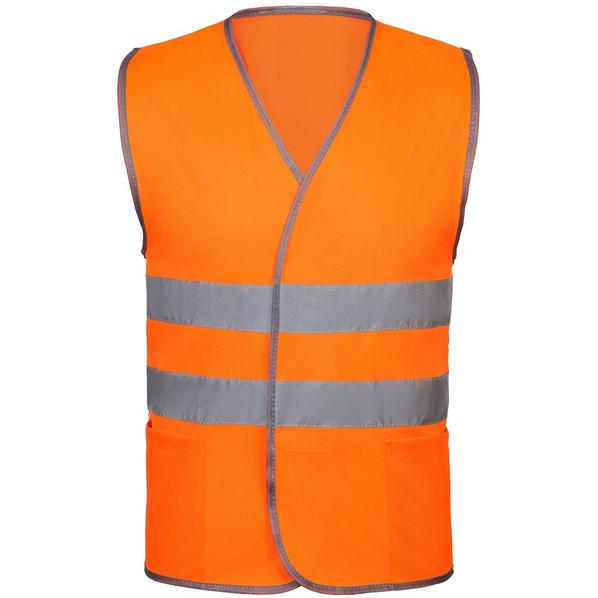 Жилет светоотражающий Reflector, оранжевый неон - фото № 1