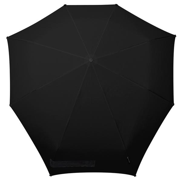 Зонт складной антишторм автомат Senz Pure Black, черный - фото № 1