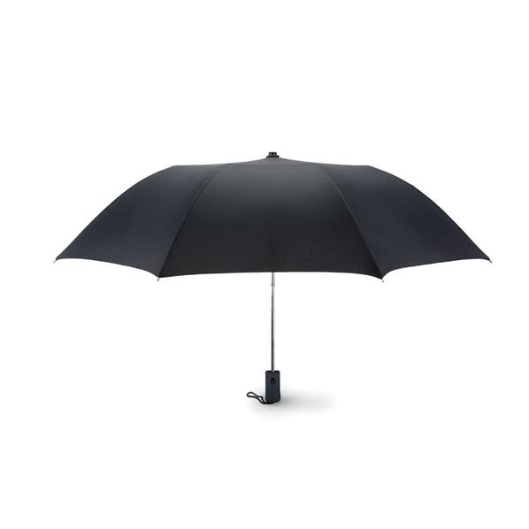 Зонт складной 2 сложения полуавтомат, черный - фото № 1