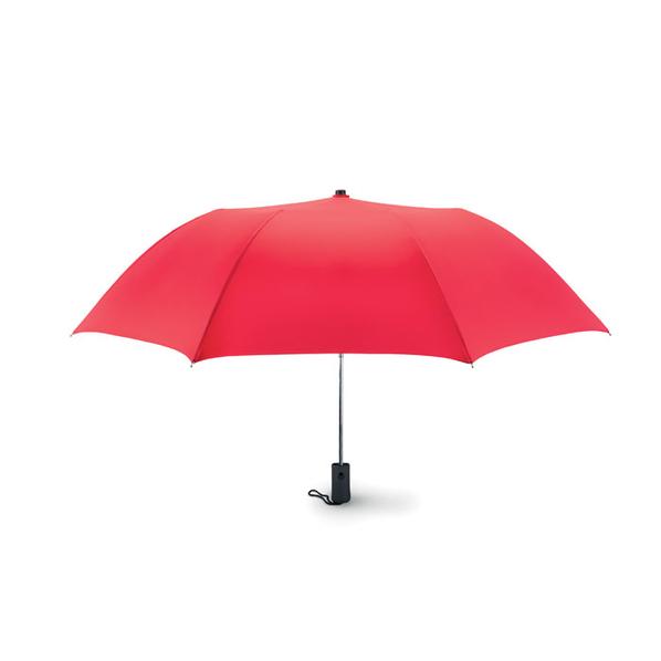 Зонт складной 2 сложения полуавтомат, красный - фото № 1