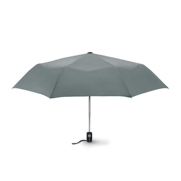 Зонт складной 3 сложения автомат, серый - фото № 1