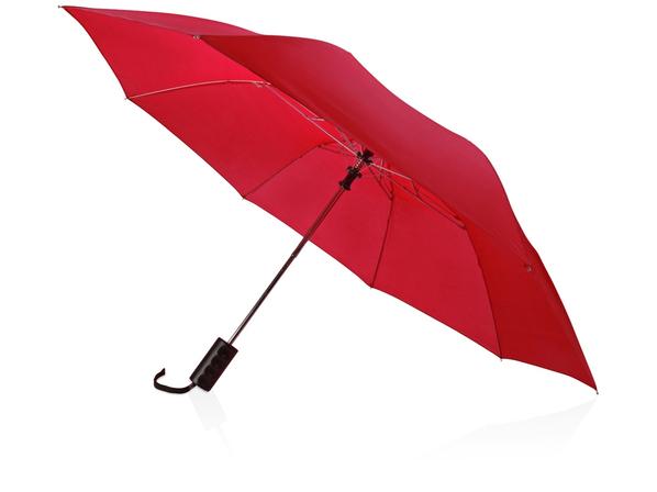 Зонт складной полуавтомат Андрия, темно-красный - фото № 1